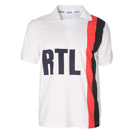 sport vintage maillot psg rtl 1980 blanc retro. Black Bedroom Furniture Sets. Home Design Ideas