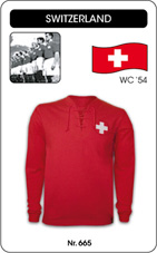 Maillot Suisse 1950's manches longues