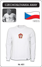 Maillot Tchecoslovaquie 1970 blanc
